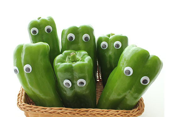 vegan diet - green peppers
